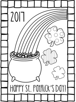 FREE St.Patrick's Day Coloring Pages- English & Spanish