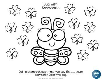 FREE – St. Patrick's Day Dot & Coloring Sheets for Articulation of Speech Sounds