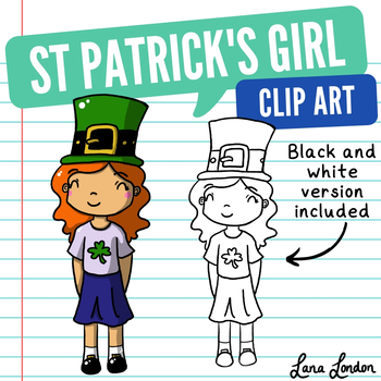 FREE St. Patrick's Day Girl Holiday Clip Art