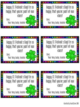 FREE St. Patrick's Day Student Notes
