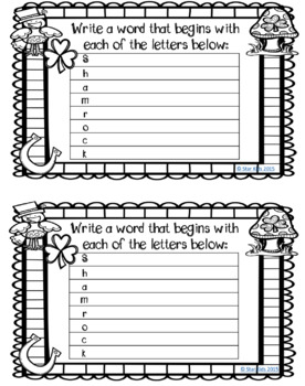 ST. PATRICK'S DAY READING AND MATH PRINTABLES for Kindergarten and First Grade