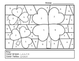 FREE St. Patrick's Day Color By Number