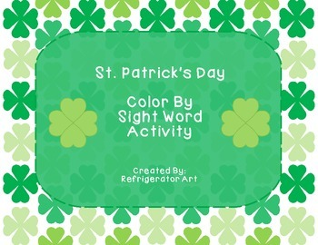 FREE St. Patrick's Day Color by Sight Word