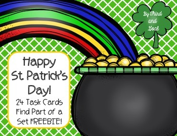 Find Part of a Set -  St. Patrick's Day Fraction Task Cards