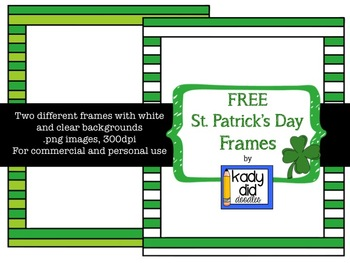 FREE St. Patrick's Day Frames {Kady Did Doodles}