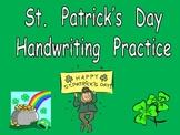 FREE St. Patrick's Day Handwriting Practice- Kindergarten & 1st Grade