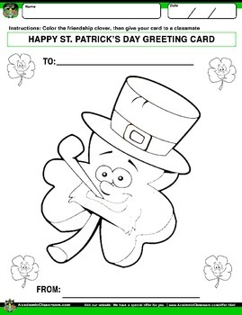 FREE St. Patrick's Day NO PREP Variety Pack, Alphabets,Math,Game, Greeting Cards