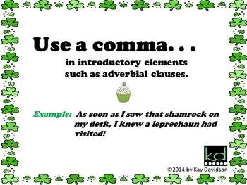 FREE St Patrick's Day Printable Grade 5 CCSS Posters: Commas are NOT Sprinkles!
