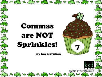 FREE St Patrick's Day Comma Rules for GR 7