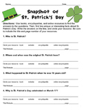 FREE! St. Patrick's Day Scavenger Hunt for Beginning Researchers