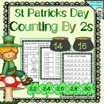 St Patrick's Day Skip Counting in 2's, Counting in Twos Worksheets