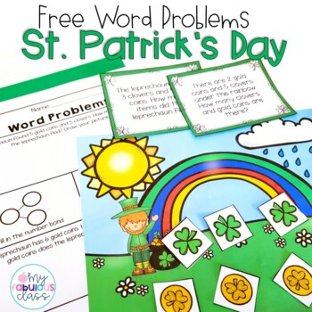 FREE St. Patrick's Day Word Problems with Mats