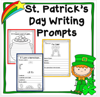 St. Patrick's Day Writing Prompts { Set of 3 }