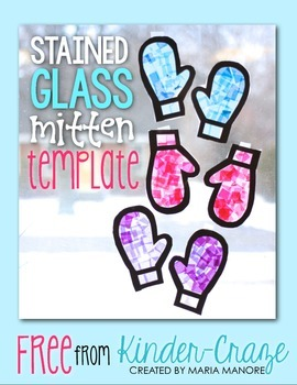 FREE Stained Glass Mitten Template