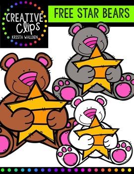FREE Star Bears {Creative Clips Digital Clipart}