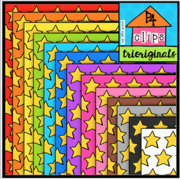 FREE Star Digital Paper (P4 Clips Trioriginals Clip Art)