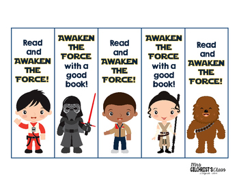 picture relating to Star Wars Bookmark Printable called Free of charge Star Wars The Strain Awakens Bookmarks!