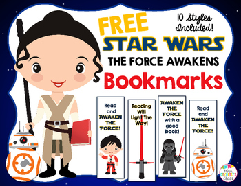 FREE Star Wars The Force Awakens Bookmarks!