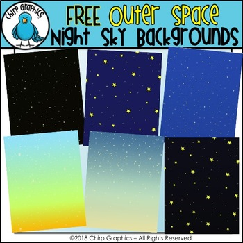 FREE Outer Space Night Sky Backgrounds - Chirp Graphics