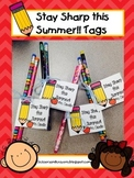 FREE Stay Sharp End of Year Tags