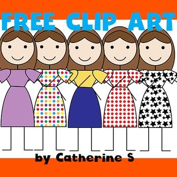 Free Clip Art - Stick Figure People
