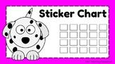 FREE Sticker Chart - Dalmatian Dog Theme