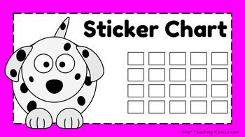 photo relating to Printable Sticker Chart identify Free of charge Sticker Chart - Dalmatian Pet dog Topic