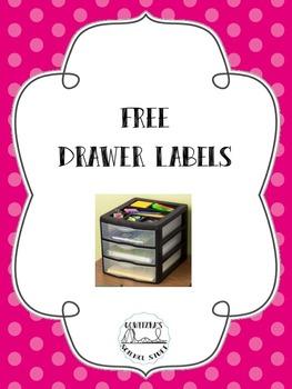 FREE Storage Drawer Labels