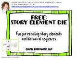 FREE Story Element Die with symbols ELA Special Education Speech Therapy