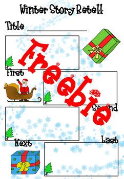 FREE - Story Retell Sheet - Christmas themed