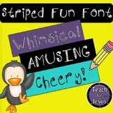 FREE Striped Fun Font | Free Font for Commercial and Personal Use