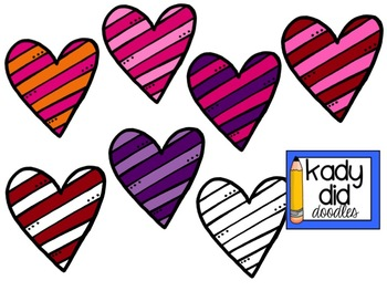 FREE Striped Hearts {Kady Did Doodles}