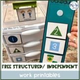 FREE Structured/ Independent Work System Schedules & Printables