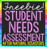 FREE Student Emotions and Needs Assessments After Hurrican