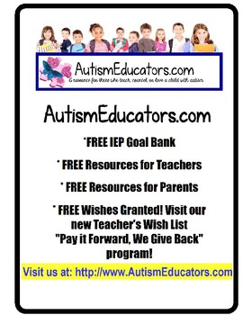 FREE Student Information Lanyard Tags For Paraprofessionals in Special Education