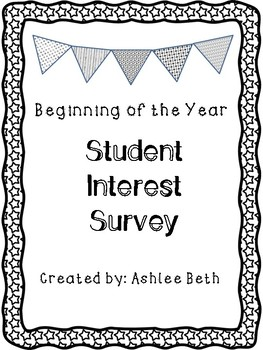 FREE Student Interest Survey