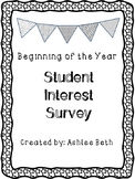 FREE Student Interest Survey
