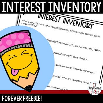 FREE Student Interest Inventory
