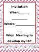 FREE Student Led IEP Meeting Freebie ~Fully Editable~
