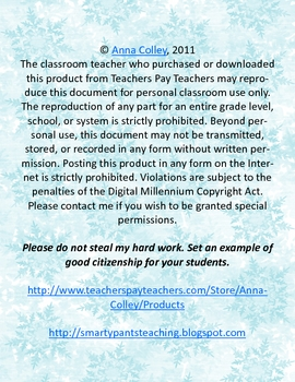 FREE Student Note for the Holidays