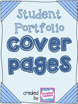 Student Portfolio Cover Page Worksheets Teaching Resources Tpt,Logo Best T Shirt Design Website