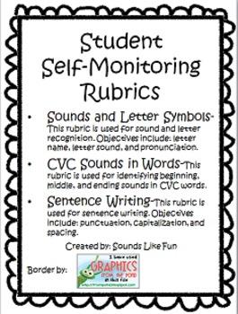 FREE Student Self Monitoring Rubrics