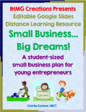 FREE Student Small Business Plan-Google Slides Distance Le