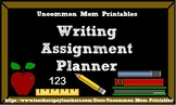 Student Writing Assignment Planner Page Printable
