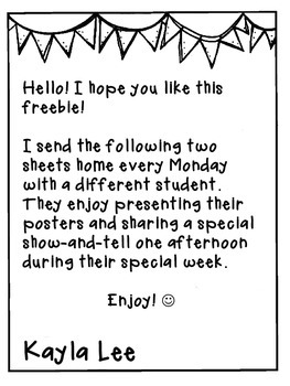 FREE Student of the Week Printables