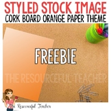 FREE Stock Photo for TpT Sellers - Cork Board Orange Paper