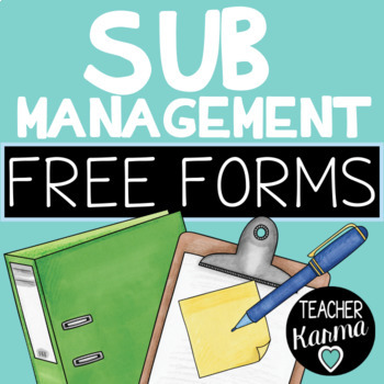Sub Report Form for Sub Management Binder ~ Substitute Org