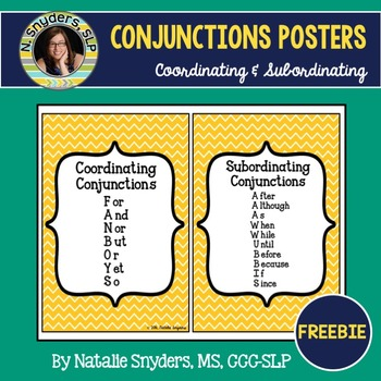 FREE Subordinating And Coordinating Conjunctions Posters FANBOYS AAAWWUBBIS 2404669 on Lesson Plans Free Printables