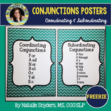 FREE Subordinating and Coordinating Conjunctions Posters -