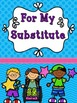 FREE Substitute Packet - Completely Editable!